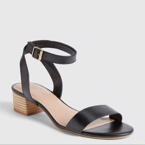 Gap black block stacked heel sandals